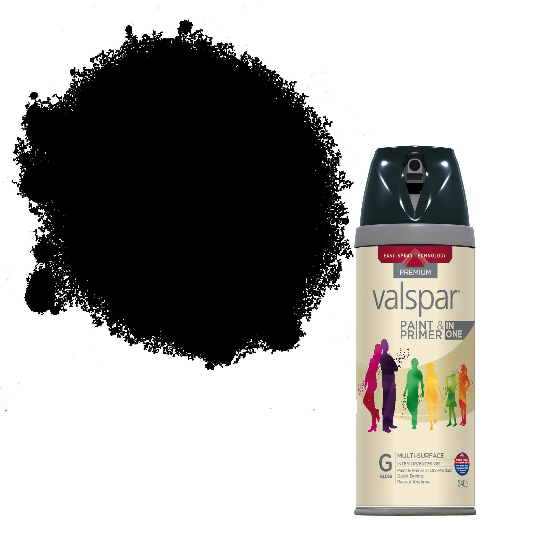 Valspar Black Gloss Spray Paint 400 ml