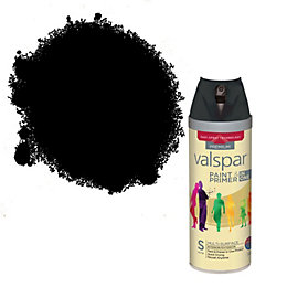 Valspar Black Satin Spray Paint 400 ml