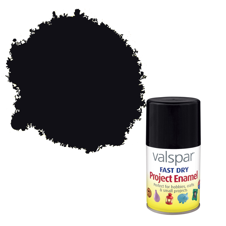 Valspar Black Gloss Enamel Spray Paint 100 ml