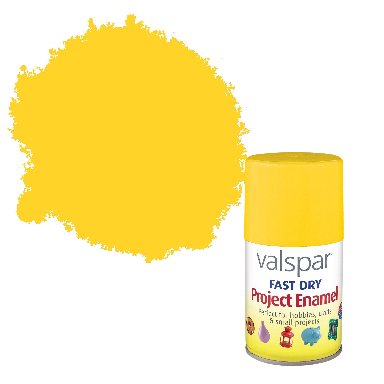 Valspar Buttercup Yellow Satin Enamel Spray Paint 100 Ml Departments Diy At B Q