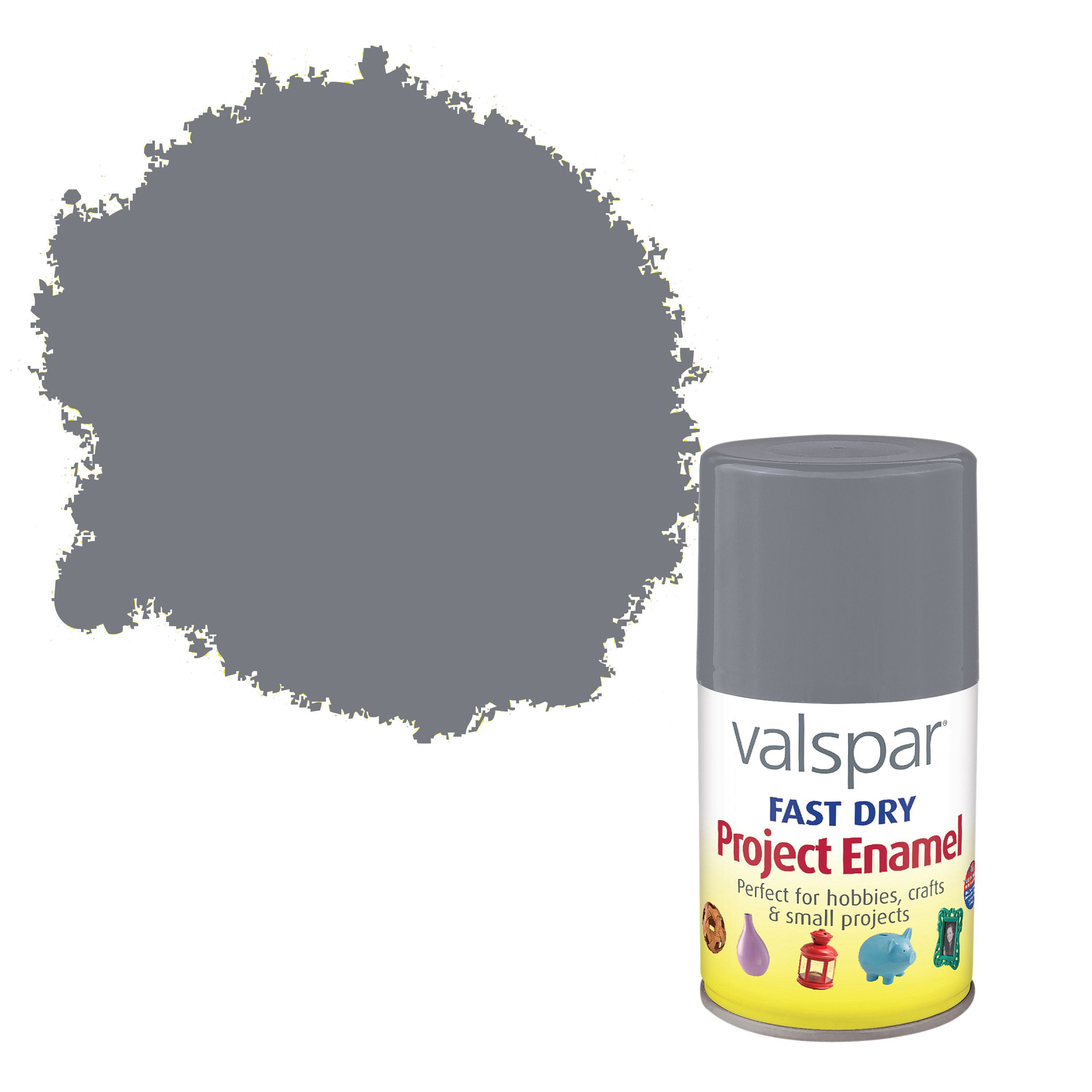 Valspar Fast Dry Pewter Metallic Enamel Spray Paint 100 Ml