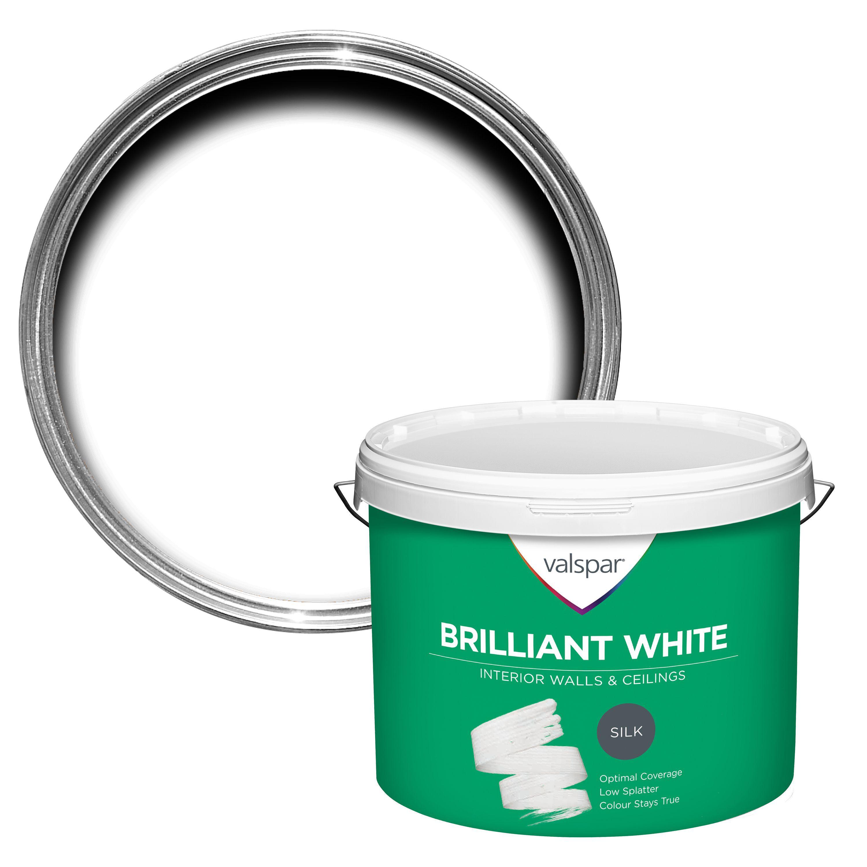 Valspar White Silk Silk Emulsion Paint 10l