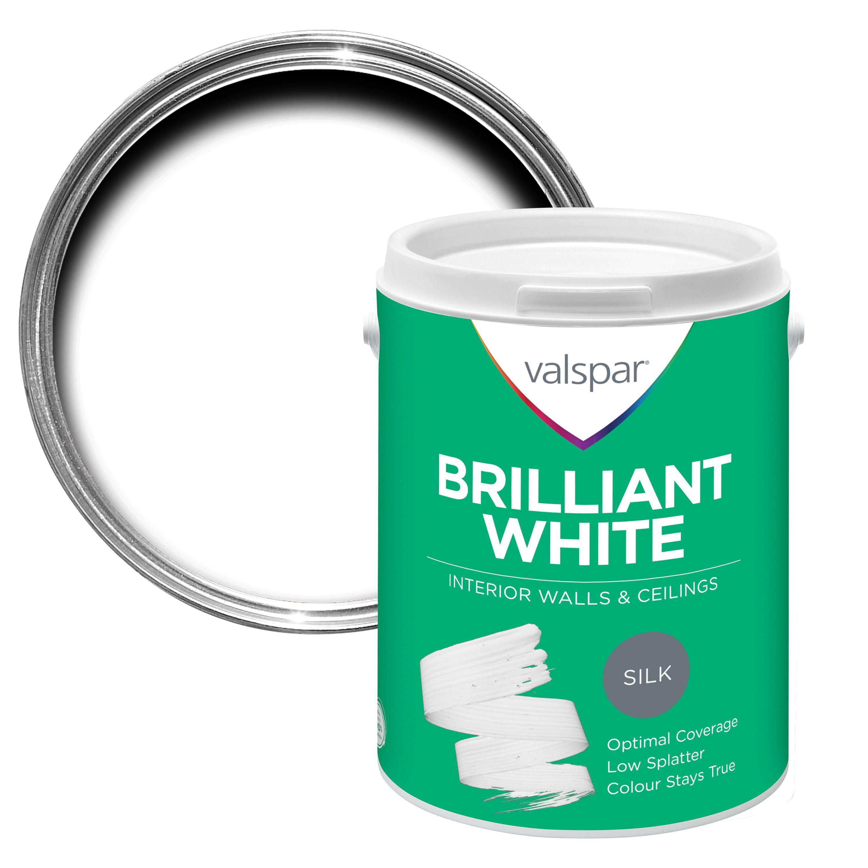 Valspar White Silk Emulsion Paint 5l