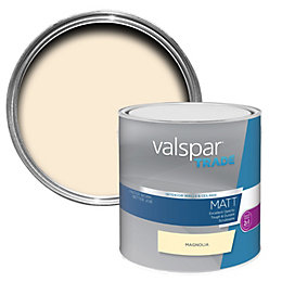 Valspar Trade Magnolia Matt Wall & Ceiling Paint