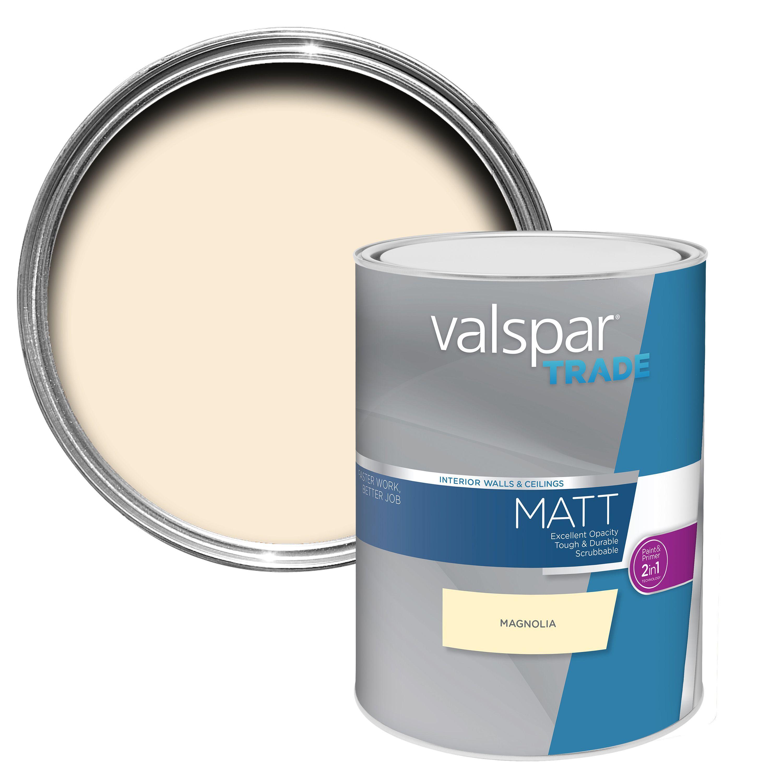 Valspar Trade Magnolia Matt Wall & Ceiling Paint 5l