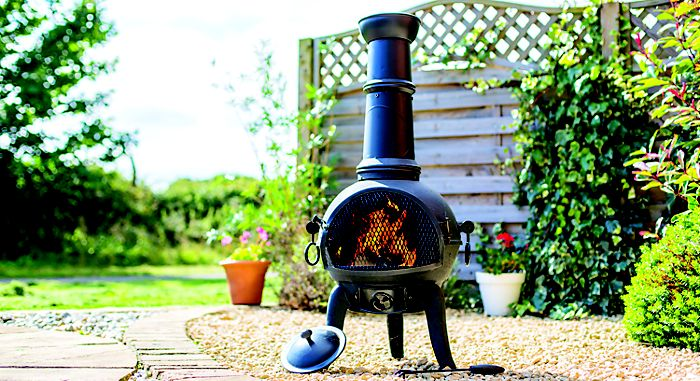 B&Q Cuba Cast Iron & Stainless Steel Chimenea