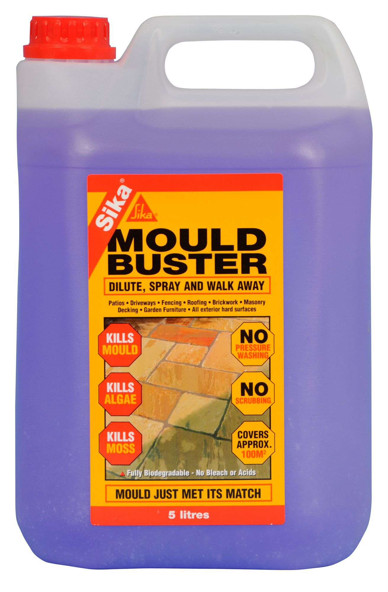 Sika Mould Remover 5000ml Departments Diy At B Amp Q