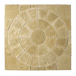York Gold Abbey Paving Circle Squaring Off Pack