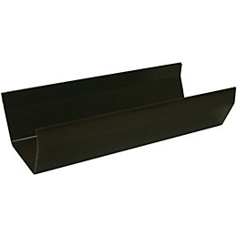 Floplast Square Gutter (Dia)114mm (W)114mm (L)2m, Brown