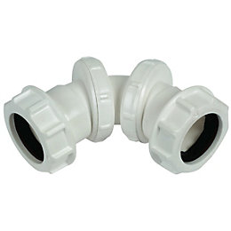 Floplast Compression Universal Adjustable Waste Bend (Dia)32mm,