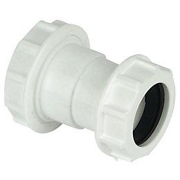 Floplast Compression Universal Waste Reducer (Dia)40mm, White
