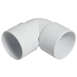 Floplast ABS Solvent Weld Waste Bend (Dia)40mm, White