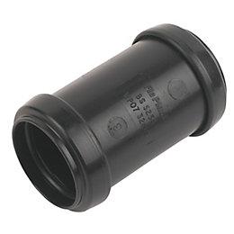 Floplast Push Fit Waste Coupling (Dia)32mm, Black