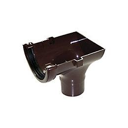Floplast Half Round Gutter Stop End Outlet (Dia)112