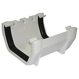 Floplast Square Gutter Union Bracket (W)114 mm, White