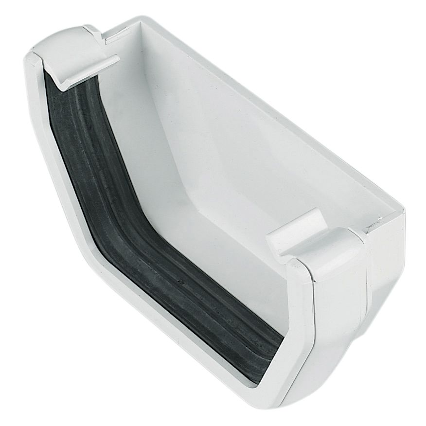 floplast square gutter stop end w 114 mm white. Black Bedroom Furniture Sets. Home Design Ideas