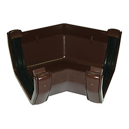 Floplast Square 135 ° Gutter Angle (Dia)114mm, Brown