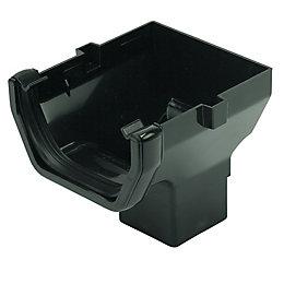 Floplast Square Gutter Stop End Outlet (W)114 mm,