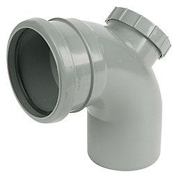 Floplast Ring Seal Soil Access Bend (Dia)110mm, Grey