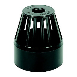 Floplast Ring Seal Soil Vent Terminal (Dia)110mm, Black