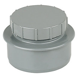 Floplast Ring Seal Soil Access Cap (Dia)110mm, Grey
