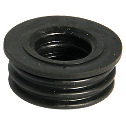 Floplast Ring Seal Soil Boss Adaptor (Dia)50mm, Black