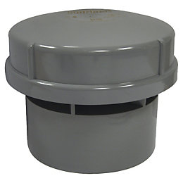 Floplast Solvent Weld Air Admittance Valve (Dia)110mm, Grey