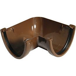 Floplast Hi-Cap 90 ° Gutter Angle (Dia)115mm, Brown