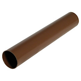 Floplast Miniflo Gutter Downpipe (Dia)50mm (L)2M, Brown