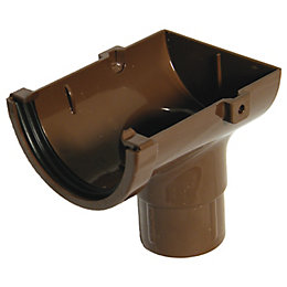 Floplast Miniflo Gutter Stop End Outlet (Dia)76 mm,