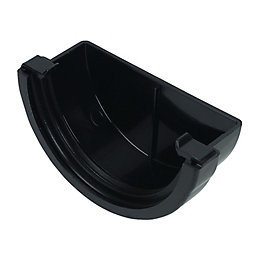 Floplast Miniflo Gutter Stop End (Dia)76 mm, Black