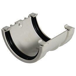 Floplast Miniflo Gutter Union Bracket (Dia)76 mm, White
