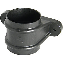 Floplast Round Gutter Downpipe Socket (Dia)68mm (L)0.076M, Cast