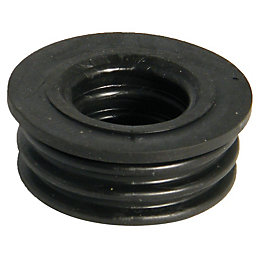 Floplast Ring Seal Soil Boss Adaptor (Dia)40mm, Black