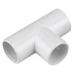 Floplast Overflow Waste Equal Tee (Dia)21.5mm, White