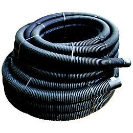 Floplast Land Drainage Flexible Coil Pipe (Dia)100mm, Black