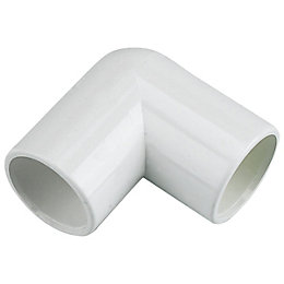 Floplast Overflow Waste Bend (Dia)21.5mm, White