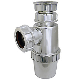 Floplast Chrome Compression Waste Telescopic Bottle Trap