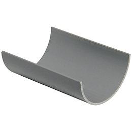 Floplast Miniflo Gutter (Dia)76mm (W)76mm (L)2m, Grey
