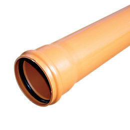 Floplast Underground Drainage Socketed Pipe (Dia)110mm, Terracotta