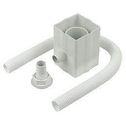 Floplast Square/Round Gutter Rainwater Diverter, White