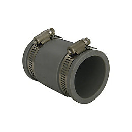 Floplast Flexiflo Waste Straight Coupling (Dia)45mm, Grey
