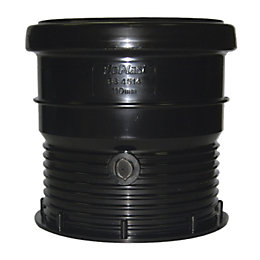 Floplast Ring Seal Soil Coupling (Dia)110mm, Black