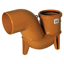 Floplast Underground Drainage Low Back P Trap (Dia)110mm,