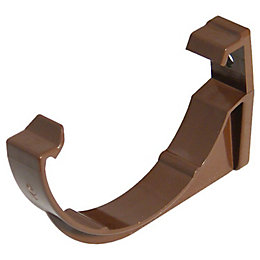 Floplast Miniflo Gutter Fascia Bracket (Dia)76mm, Brown