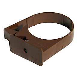 Floplast Round Gutter Downpipe Clip (Dia)50mm (L)25mm