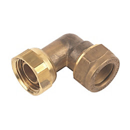 Plumbsure Compression Bent Tap Connector (Dia)15mm