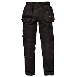 "DeWalt Pro Tradesman Black Work Trousers W32"" L33"""