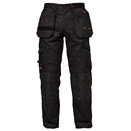 """DeWalt Pro Tradesman Black Work Trousers W34"""" L33"""""""