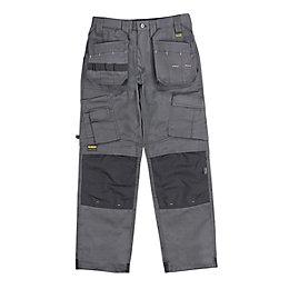 """DeWalt Pro Tradesman Grey Trousers W38"""" L31"""""""